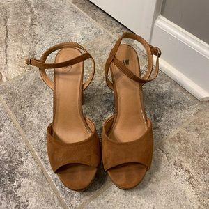 H&M suede heels